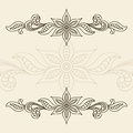 Vintage ornamental frame background with floral border ornament Stock Images
