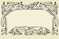 Vintage ornamental header with ribbons vector ornate banner at engraving style Stock Images