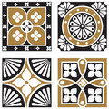Vintage ornamental patterns in a neo gothic style Royalty Free Stock Image
