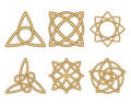 Vintage ornaments. Celtic knots Stock Image