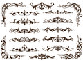 Vintage ornaments design elements floral curlicues white background curbs frame corners stickers. Borders, monograms and dividers