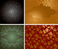 Vintage ornate background set Stock Image