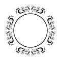 Vintage Ornate circle Frame. vector frame. Royalty Free Stock Photo