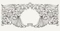 Vintage ornate frame background high Royalty Free Stock Image