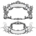 Vintage ornate frames with scroll Stock Photo