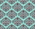 Vintage ornate seamless pattern with Eastern floral elements. Ornamental vector background.