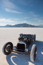 Vintage packard racing car during the world of speed bonneville salt flats utah september Stock Images