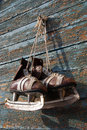 Vintage pair of mens  ice skates Stock Images