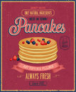 Vintage pancakes poster vector illustration Royalty Free Stock Image