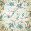 Vintage paper blue flourish for scrapbook background Royalty Free Stock Photography