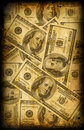 Vintage paper with dollars Royalty Free Stock Photo