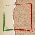 Vintage Paper Tear on Linen Texture