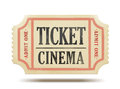 Vintage paper ticket Royalty Free Stock Images