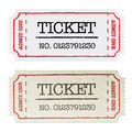 Vintage paper ticket, two versions Stock Photo