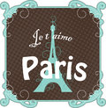 Vintage Paris card Stock Image