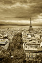 Vintage Paris landscape Stock Photos