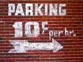 Vintage Parking Sign Stock Photo