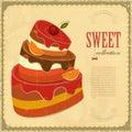 Vintage pastry Menu Royalty Free Stock Photo