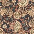 Vintage Pattern In  Batik Styl...