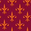 Vintage pattern fleur de lis. Royalty Free Stock Photo