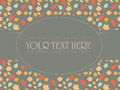 Vintage pattern for invitation and cards with removable text on separate layer Stock Images