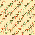 Vintage pattern with multiple colored heart eps Royalty Free Stock Photography