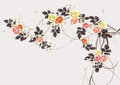 Vintage pattern with roses . Vector illustration. Royalty Free Stock Photo