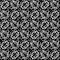 Vintage pattern seamless white on a black background Stock Photo