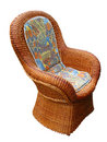 Vintage pattern wooden armchair Royalty Free Stock Photography