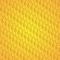 Vintage pattern on a yellow background Royalty Free Stock Photos