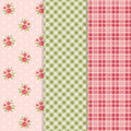 Vintage patterns floral with roses in shabby chic style and similar color companions Stock Photos