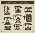 Vintage phones Stock Photos