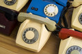 Vintage phones Stock Photography