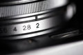 Vintage photo camera details macro shot Royalty Free Stock Photos