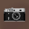 Vintage photo camera film retro on the brown background stock vector Royalty Free Stock Images