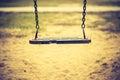 Vintage Photo Of Empty Swing O...