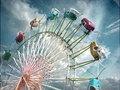 Vintage photo of ferris wheel Royalty Free Stock Photo