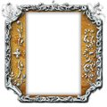 Vintage photo frame with classy patterns Royalty Free Stock Image