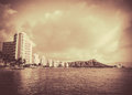 Vintage Photo Of Hawaii Beach Royalty Free Stock Photo