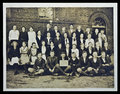 Vintage photograph school children ocillia ga usa th grade class image ocillia ga class in front of building Stock Images