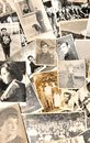 Vintage photos collection of family Royalty Free Stock Image