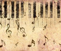 Vintage piano background Royalty Free Stock Images