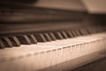 Vintage piano a picture of an old style Royalty Free Stock Photo