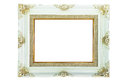 Vintage picture frame for background isolated on white Royalty Free Stock Photos