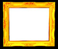 Vintage picture frame isolated on white background Stock Photography