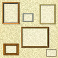 Vintage picture frame selection Royalty Free Stock Photos