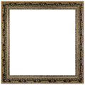 Vintage picture frame, white background Royalty Free Stock Photo