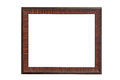 Vintage picture frame, wood plated isolated on white with clipping path Royalty Free Stock Photo