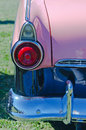 Vintage pink american car rear lights closeup of a classic Royalty Free Stock Photography