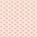 Vintage Pink Fan Background repeat wallpaper